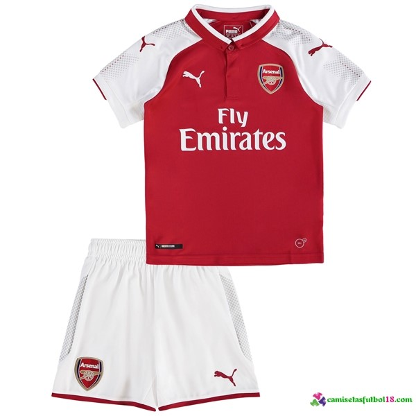 Camiseta 1ª Kit Conjunto Arsenal Niño 2017 2018